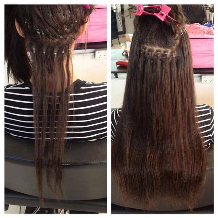install hair extensions