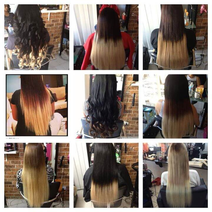 ombre color hair extensions