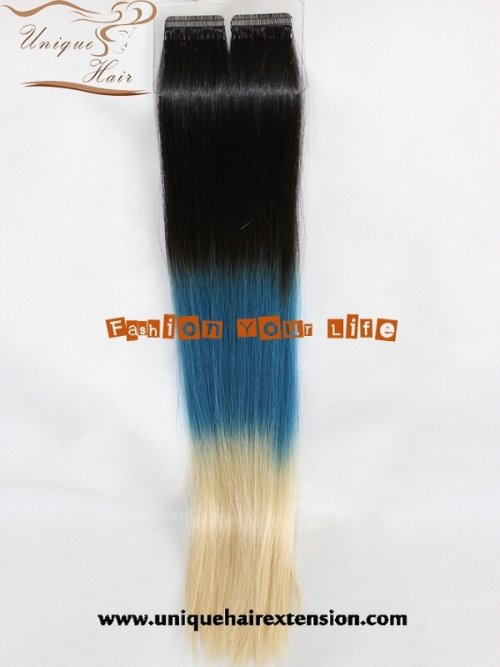 3 tone balayage tape hair extensions