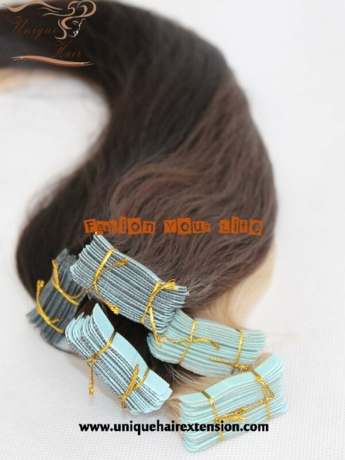 European hair tape weft extensions