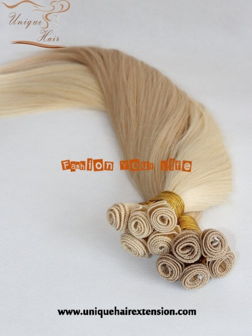 Virgin Hand Tied Weft Hair Extensions factory