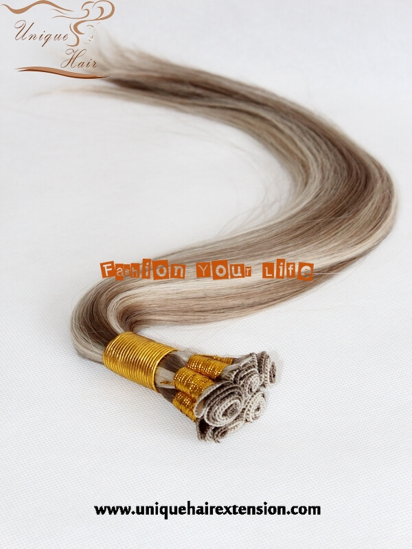 Hand Tied Hair Weft European Hair