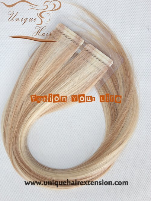 Seamless double sided tape hair extensions