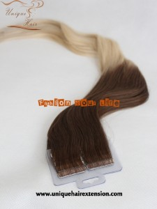 double drawn balayage tape hair extensions