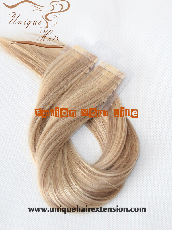 Seamless Tape In Hair Extensions Piano Color 100 Remy Human Hair