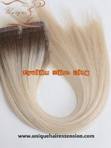 ombre color tape in hair extensions factory