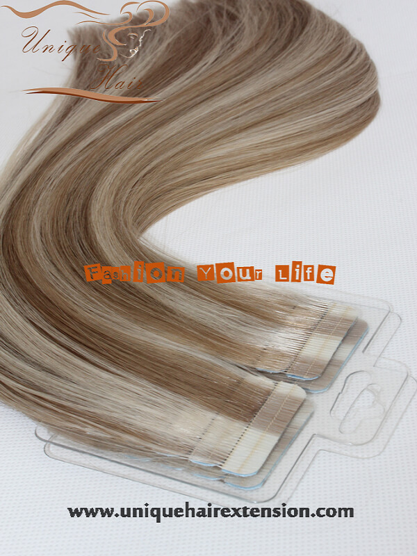 piano color double sided tape weft hair