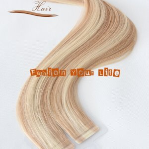 seamless tape in hair extensions piano color