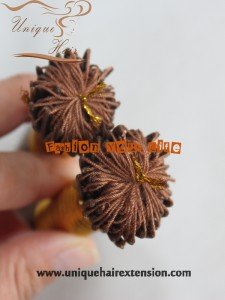 cotton thread hair extension I tip
