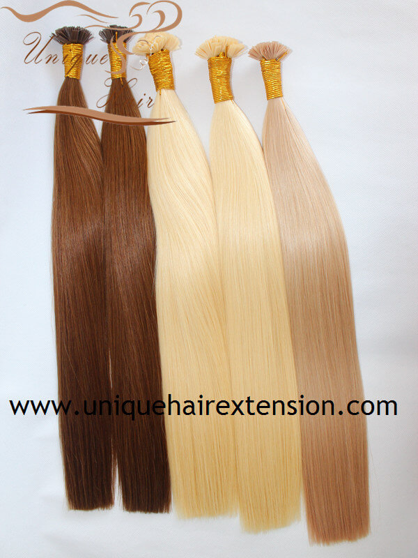 Wholesale European Remy Double Drawn Keratin Hair Extensions Factory