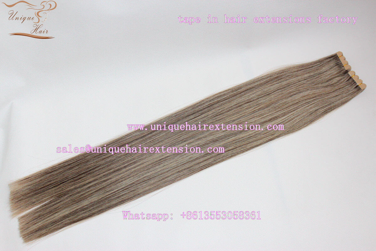 double drawn mini tape hair extensions