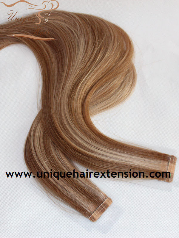 Russian remy highlight tape extensions