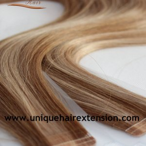 Russian virgin Piano color tape extensions