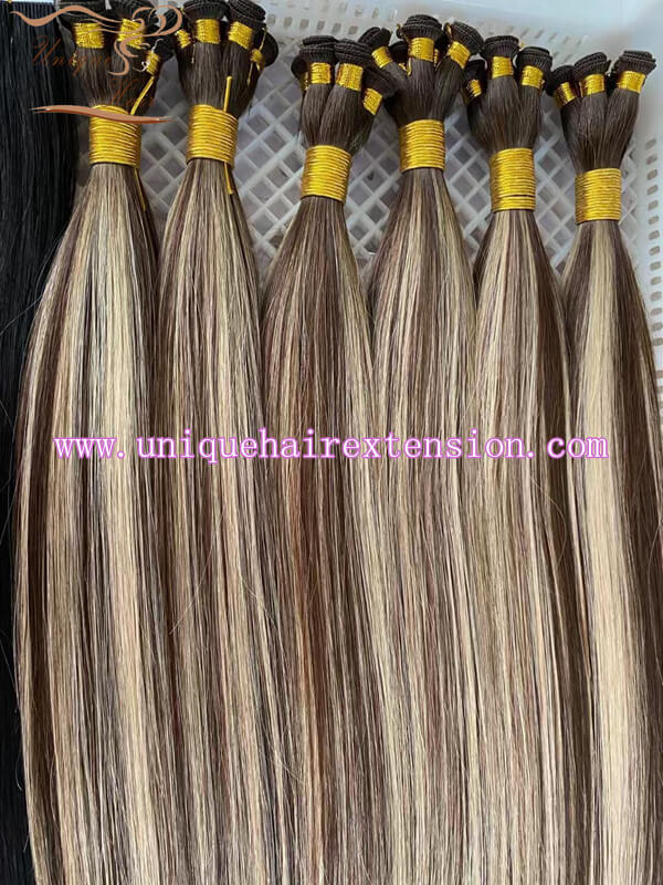 piano color hand tied wefts